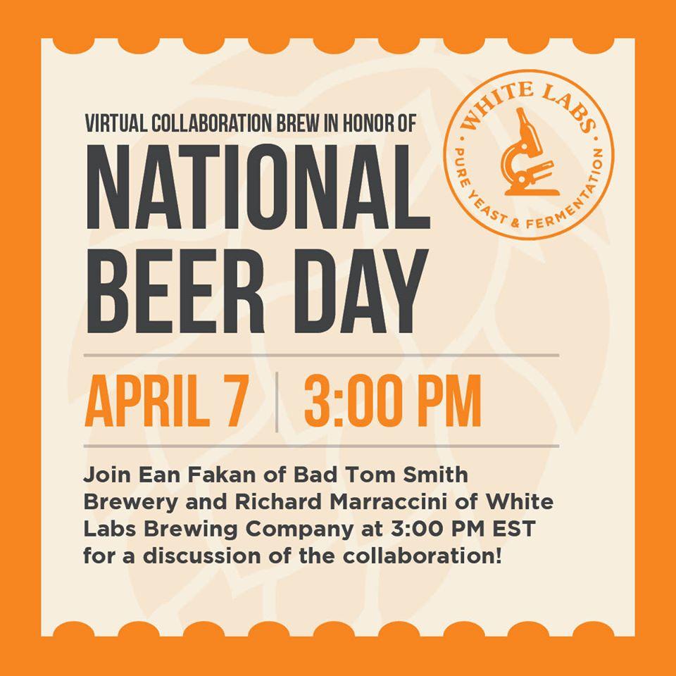 НОВОСТИ White Labs празднует национальный день пива на следующей неделе!